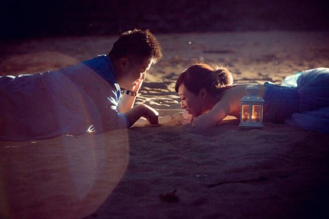 浪漫沙灘婚紗-台北婚攝550伍哥